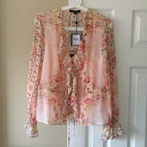 New floral bell sleeve blouse